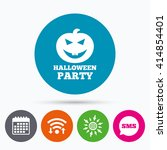 wifi  sms and calendar icons.... | Shutterstock .eps vector #414854401