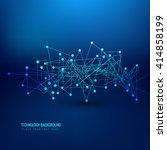 abstract blue technology...   Shutterstock .eps vector #414858199