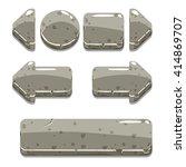 vector cartoon stone buttons...