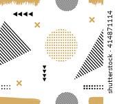 memphis style. the seamless... | Shutterstock .eps vector #414871114