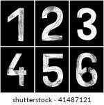 old rusty numbers  1 6  in... | Shutterstock . vector #41487121