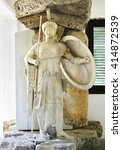 Small photo of AIGINA GREECE, JULY 04 2015: ancient greek statue at the museum of Aegina island Greece. Editorial use.