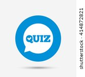 quiz check in speech bubble... | Shutterstock .eps vector #414872821