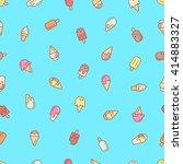 ice cream seamless pattern.... | Shutterstock .eps vector #414883327