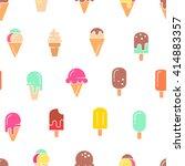Ice Cream Seamless Pattern....