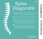 flat spine icon for orthopedic... | Shutterstock .eps vector #414884011