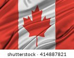flag of canada waving in the... | Shutterstock . vector #414887821