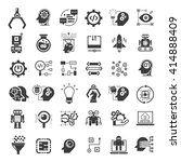 artificial intelligence icons... | Shutterstock .eps vector #414888409