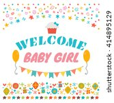 welcome baby girl. announcement