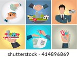 sale purchase and rental of... | Shutterstock .eps vector #414896869