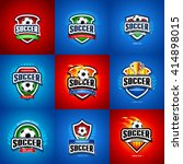 soccer  football logo set.... | Shutterstock .eps vector #414898015