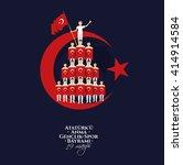 vector illustration 19 mayis... | Shutterstock .eps vector #414914584