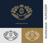 line graphics monogram. logo... | Shutterstock .eps vector #414922009