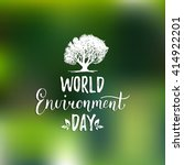 world environment day hand... | Shutterstock .eps vector #414922201