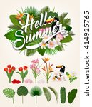hello summer typographical... | Shutterstock .eps vector #414925765