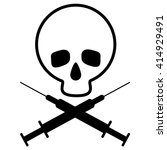 skull with the crossed... | Shutterstock .eps vector #414929491