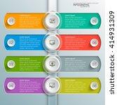 vector abstract 3d paper... | Shutterstock .eps vector #414931309