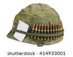 Us Army Helmet Vietnam War...