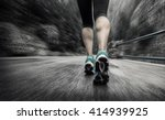 running on the road around... | Shutterstock . vector #414939925