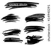 vector set of grunge brush... | Shutterstock .eps vector #414940291