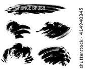 vector set of grunge brush... | Shutterstock .eps vector #414940345