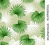 seamless pattern with palms... | Shutterstock .eps vector #414940531