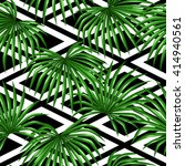 seamless pattern with palms... | Shutterstock .eps vector #414940561