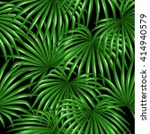 seamless pattern with palms... | Shutterstock .eps vector #414940579