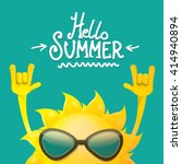 hello summer rock n roll poster.... | Shutterstock .eps vector #414940894