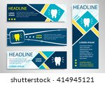 tooth icon on horizontal and... | Shutterstock .eps vector #414945121