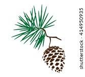 vector illustration pine cone... | Shutterstock .eps vector #414950935