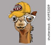 camel portrait in a glasses and ... | Shutterstock .eps vector #414952009