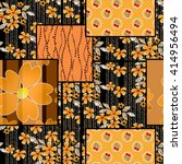 patchwork seamless pattern...   Shutterstock . vector #414956494