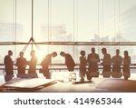 business people meeting... | Shutterstock . vector #414965344