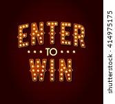 enter to win vector sign  win... | Shutterstock .eps vector #414975175