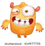 cartoon cute monster | Shutterstock .eps vector #414977755
