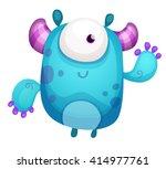 cartoon cute monster   Shutterstock .eps vector #414977761