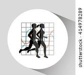 fitness lifestyle  design  | Shutterstock .eps vector #414978289