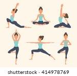 female yoga. vector... | Shutterstock .eps vector #414978769