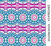 vector ethnic colorful bohemian ... | Shutterstock .eps vector #414982465