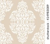 elegant damask wallpaper.... | Shutterstock .eps vector #414983089