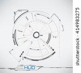 sci fi futuristic user... | Shutterstock .eps vector #414983275