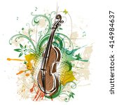 violin  abstract floral... | Shutterstock .eps vector #414984637