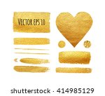 Vector Set Of Shining Brush...