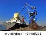 the port crane | Shutterstock . vector #414985291
