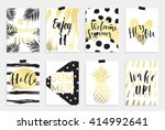 summer hand drawn calligraphyc... | Shutterstock .eps vector #414992641