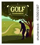 golf tournament. cartoon vector ... | Shutterstock .eps vector #415001587