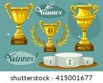 winner vector set. podium ...   Shutterstock .eps vector #415001677