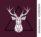 triangle deer art | Shutterstock .eps vector #415005694