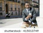 portrait of handsome african... | Shutterstock . vector #415013749